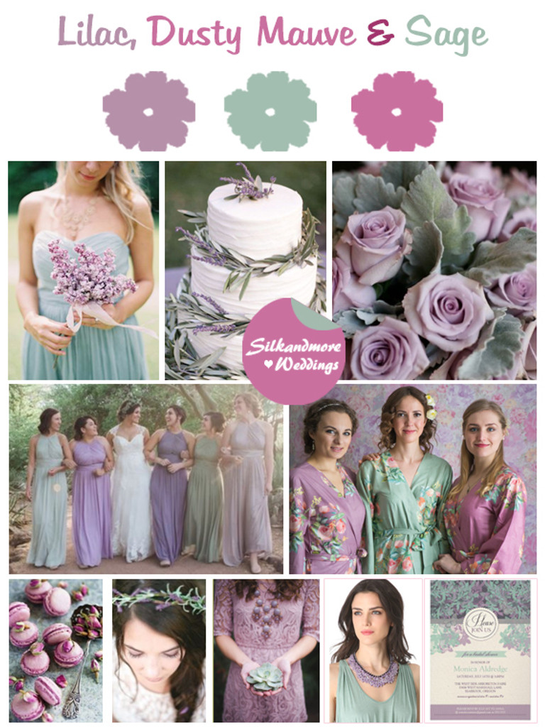 Lilac, Dusty Mauve and Sage Color Robes - Premium Rayon Collection