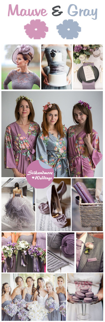 Mauve and Gray Color Robes - Premium Rayon Collection