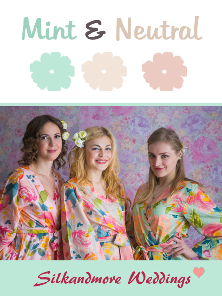 Mint and Neutral Green Color Robes - Premium Rayon Collection