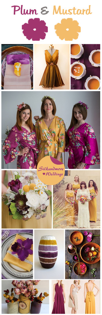 Plum and Mustard Color Robes - Premium Rayon Collection