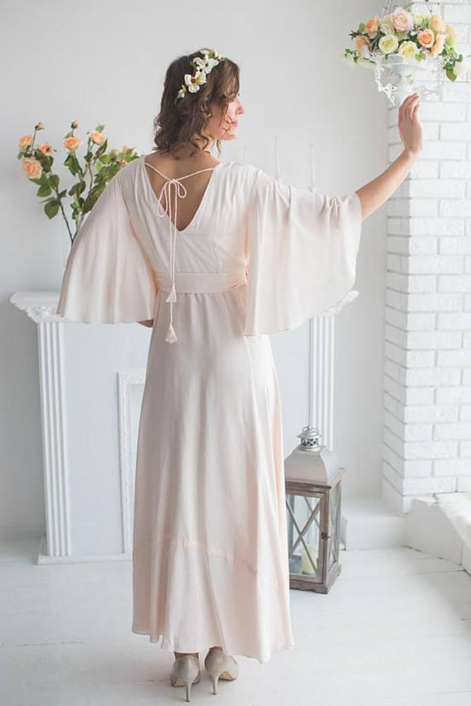 2b41aeadd Soft Blush Bridal Robe in Graceland