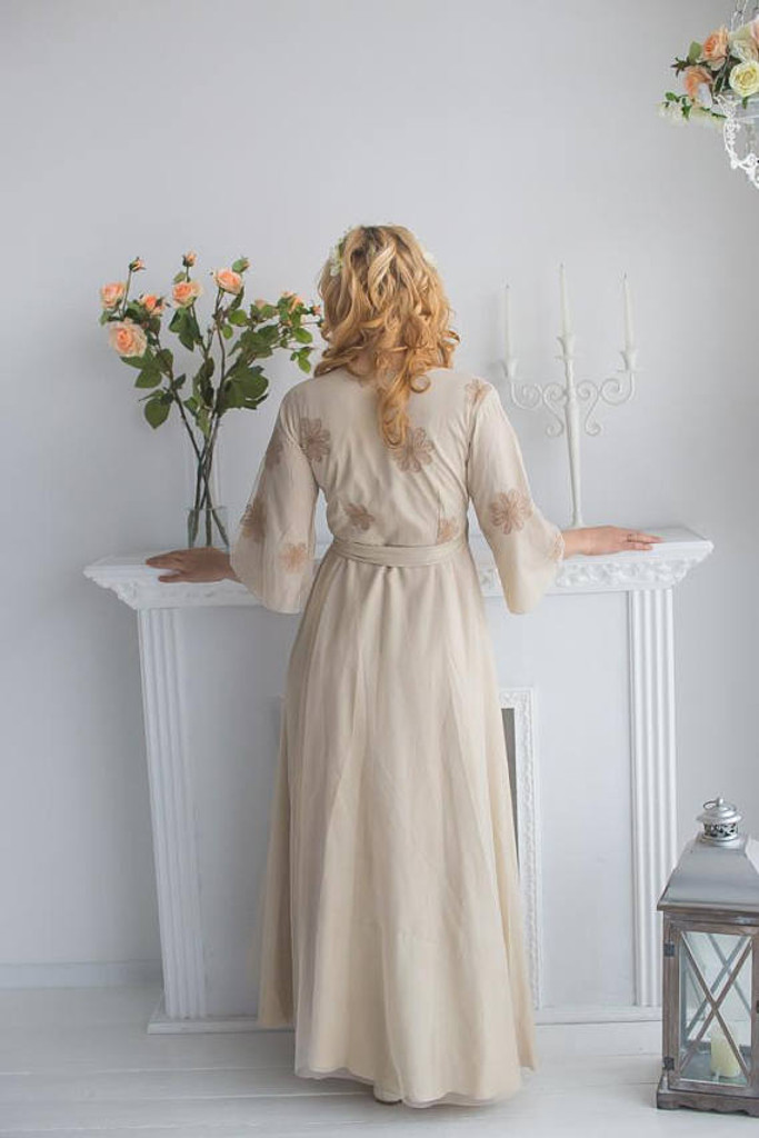 Champagne Bridal Robe from my Paris Inspirations Collection - Flower Touch in Champagne