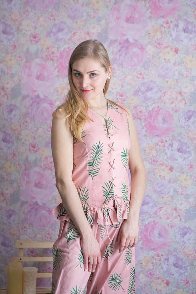 """Tropical Delight"" pattern in Dusty Rose. It is also available in several other colors."