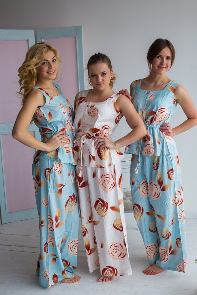 Drawstring Style PJs in a rumor among Fairies Pattern