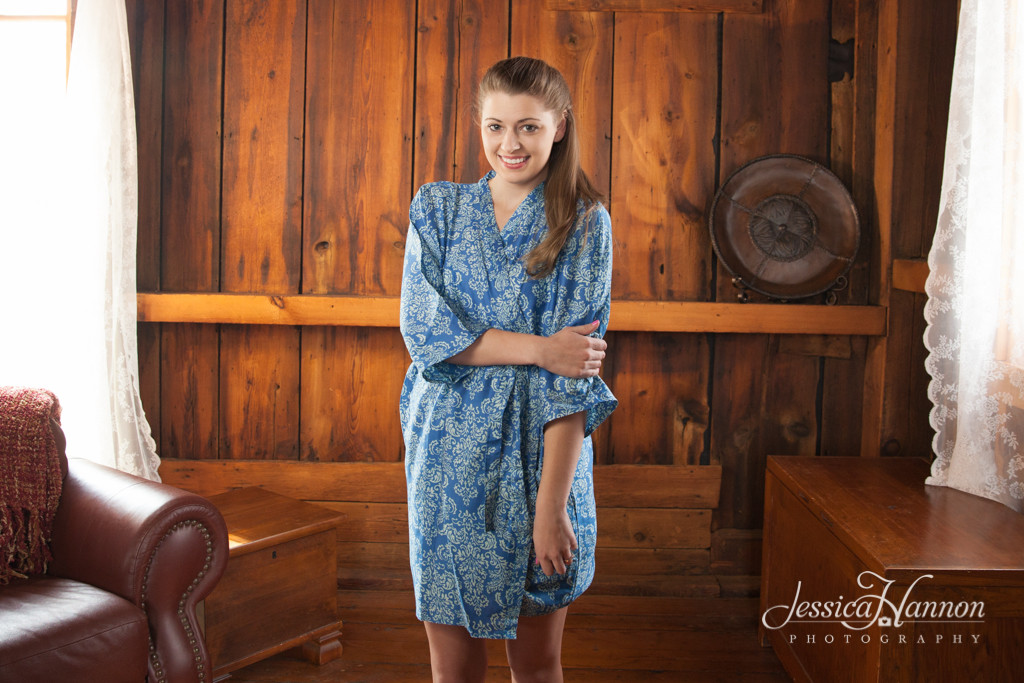 Blue Damask Robes for bridesmaids   Getting Ready Bridal Robes