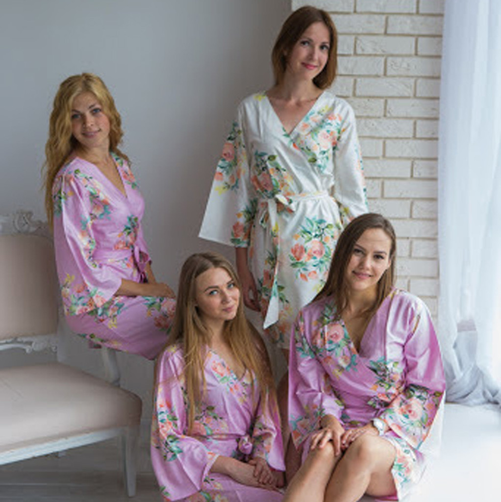 Premium Dreamy Angel Song Bridesmaids Robes in Lilac