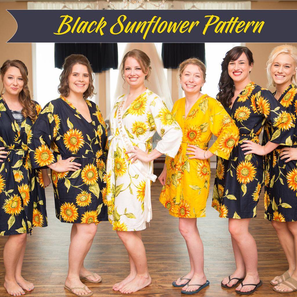 set of 6 bridesmaids robes