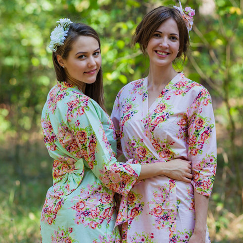 Cute Bows in bridesmaids robes