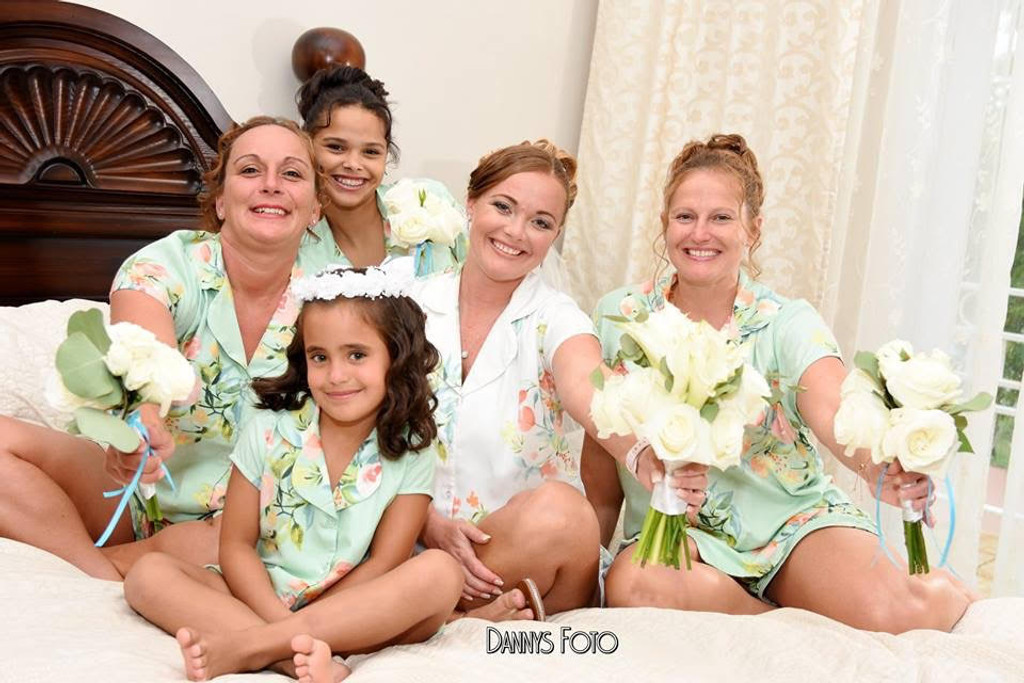 set of 5 bridesmaids pj sets