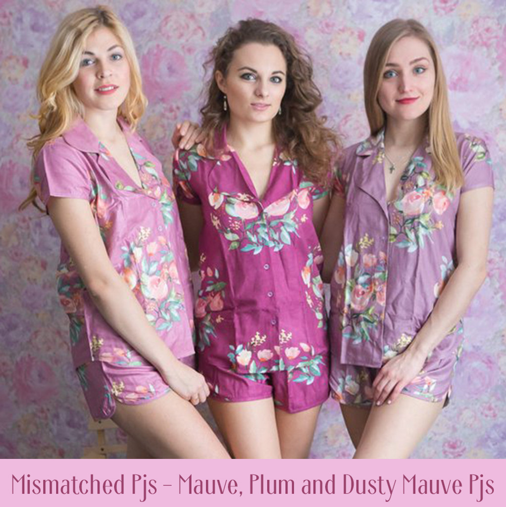 Blush Notched Collar Style PJs in Dreamy Angel Song Pattern