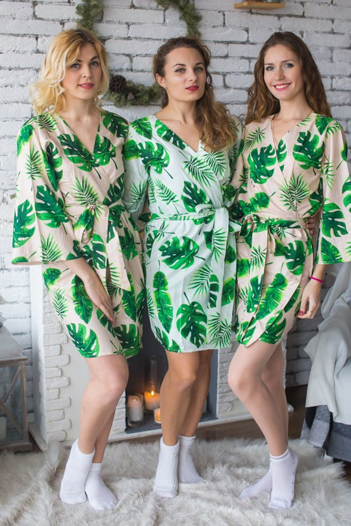 Fun tropics bridesmaids robes