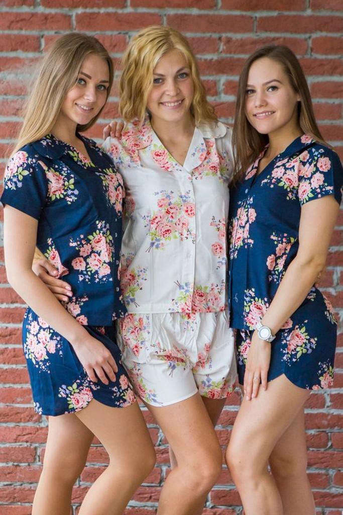 set of three bridesmaids pj sets