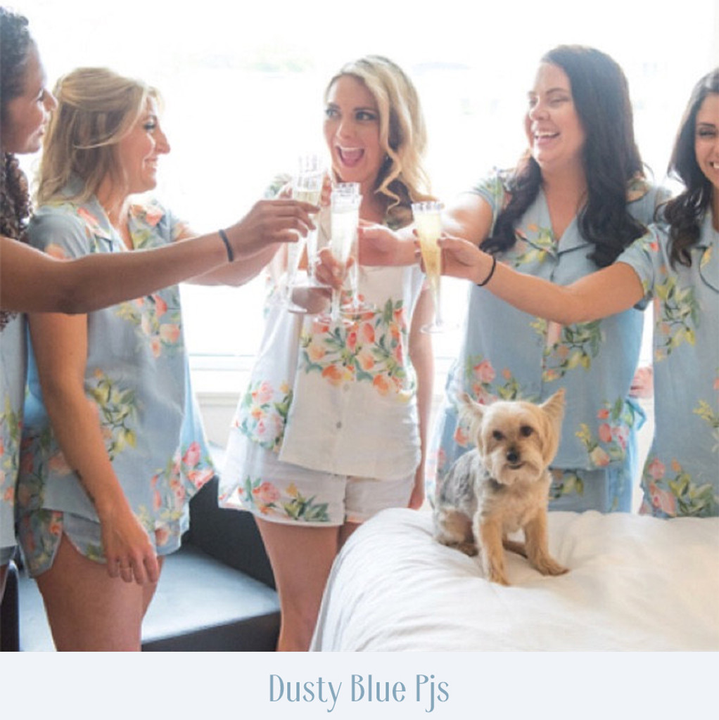 Black Dreamy Angel Song Bridesmaids PJ Set