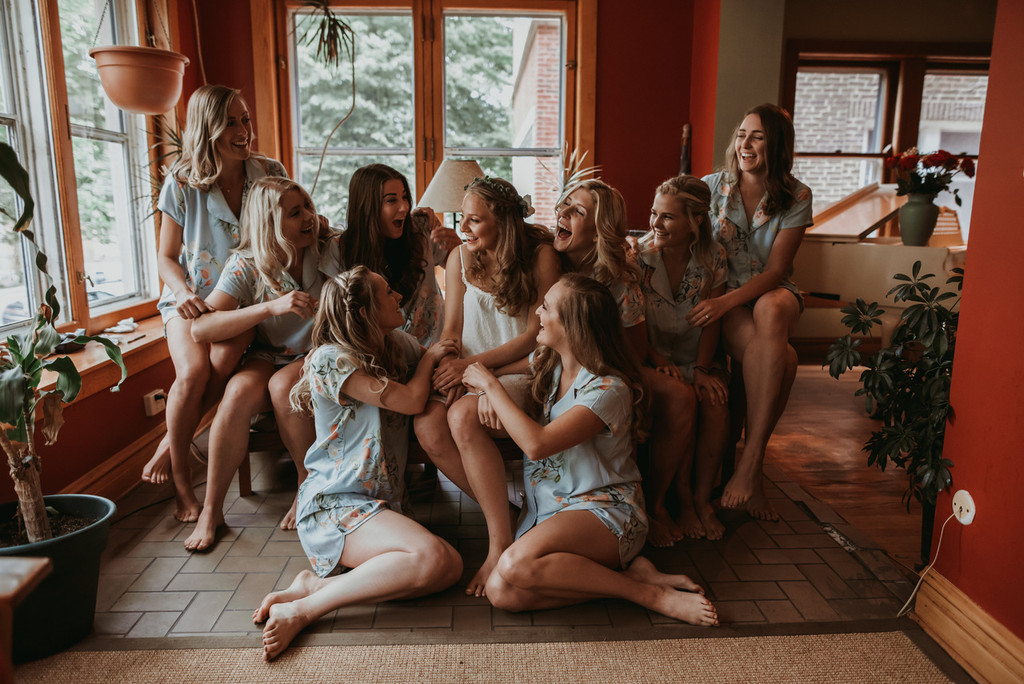 bridal party  pj set
