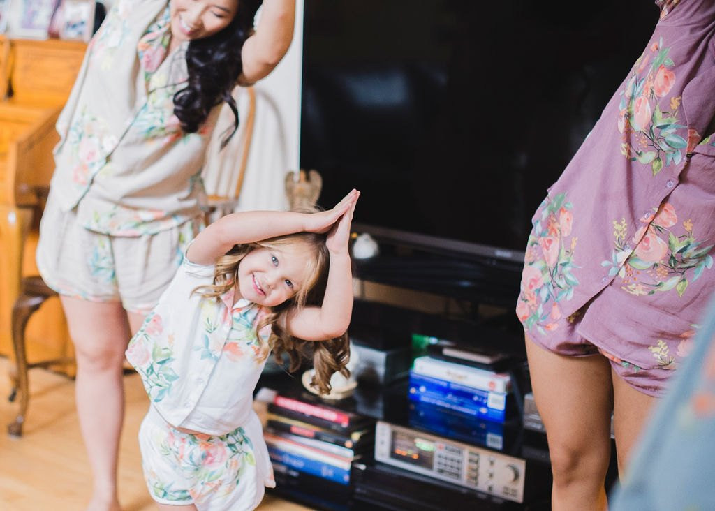 Dusty Blue, Dusty Mauve and Champagne Notched Collar Style PJs in Dreamy Angel Song Pattern
