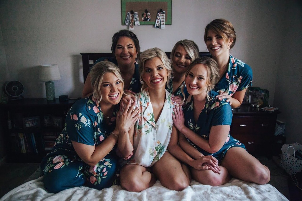 Dark Teal Notched Collar Style PJs in Dreamy Angel Song Pattern