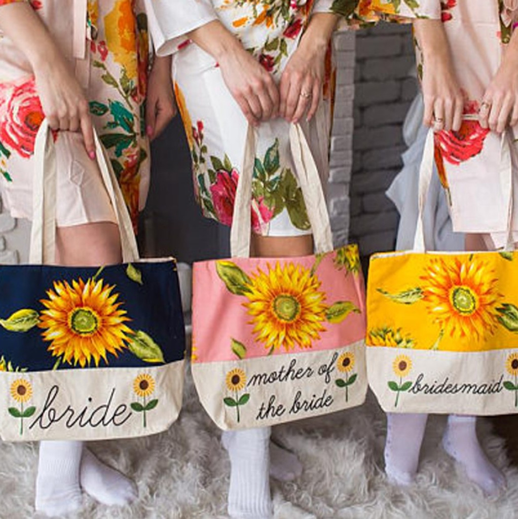 Matching Floral Tote Bags for your bridal party
