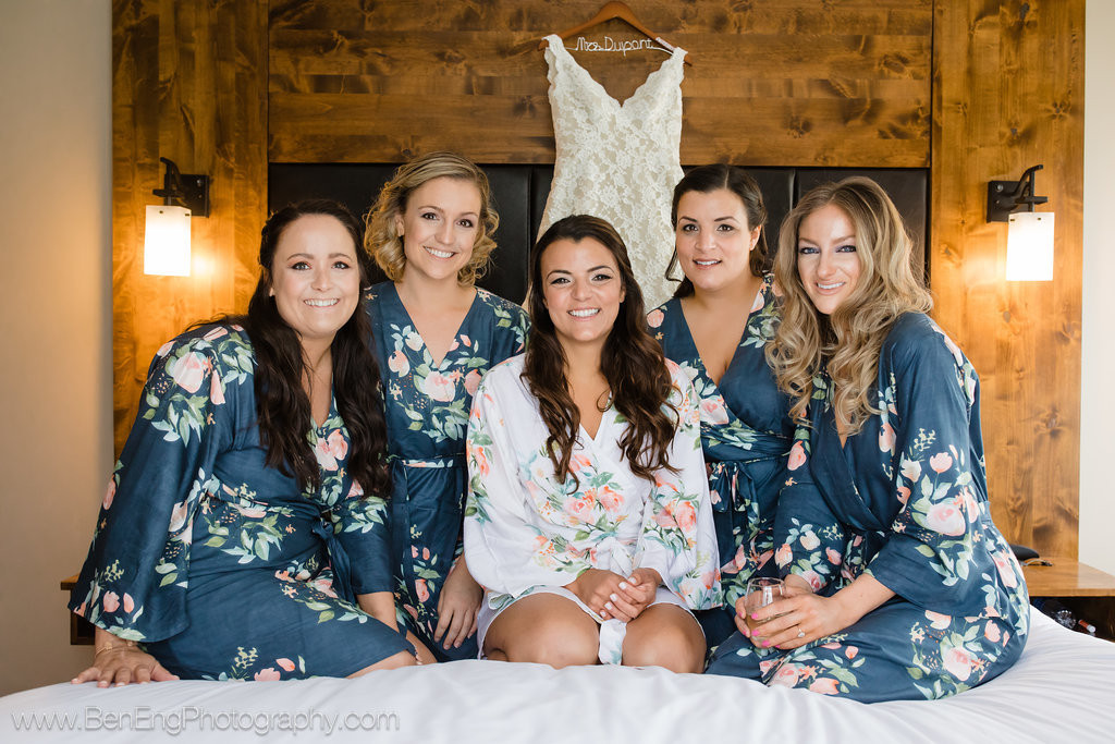 Blueberry Blue Dreamy Angel Song Set of Bridesmaids Robes