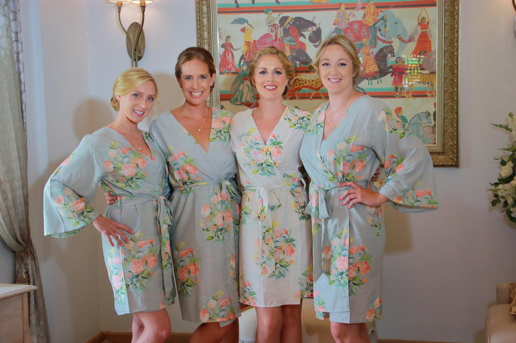 Light Blue Dreamy Angel Song Set of Bridesmaids Robes