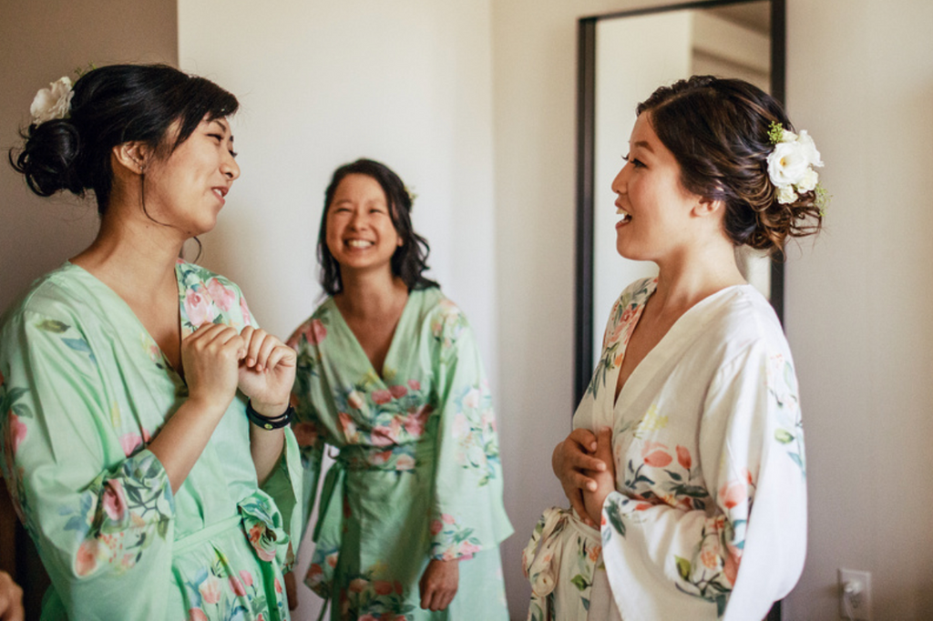 Mint Dreamy Angel Song Bridesmaids Robes Set