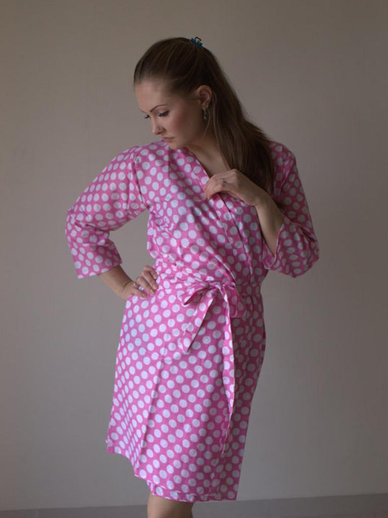 Pink Polka Dots Robes for bridesmaids | Getting Ready Bridal Robes