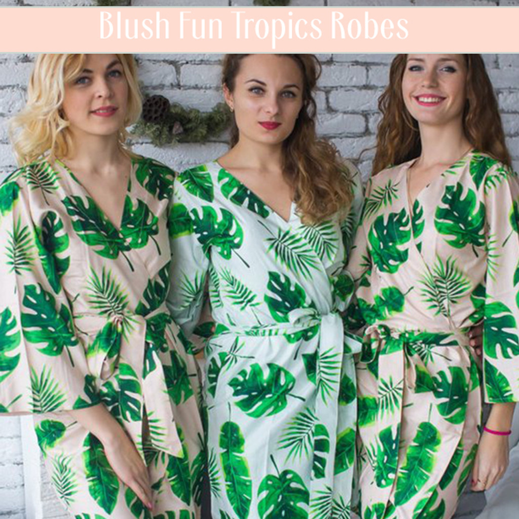set of 3 bridesmaids robes