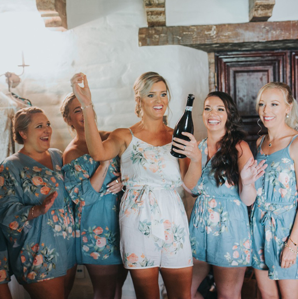 Peacock Blue Mismatched Styles Dreamy Angel Song Bridesmaids Rompers