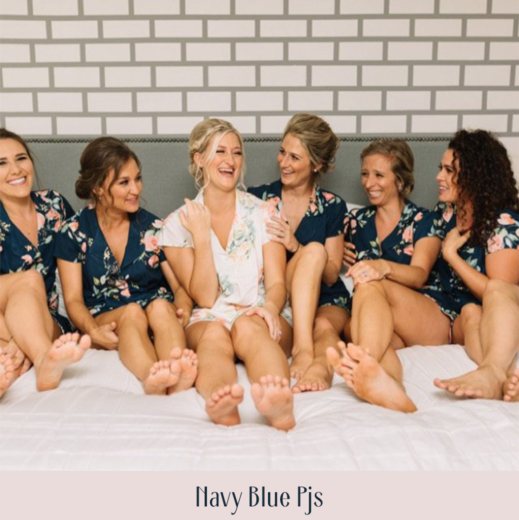 Shades of Blue and Green Dreamy Angel Song Bridesmaids PJ Set