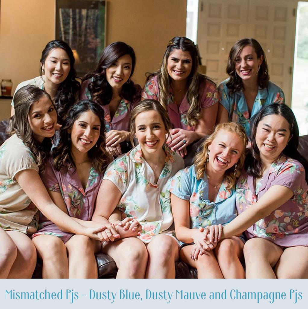 Shades of Pinks and Lilacs Dreamy Angel Song Bridesmaids PJ Set