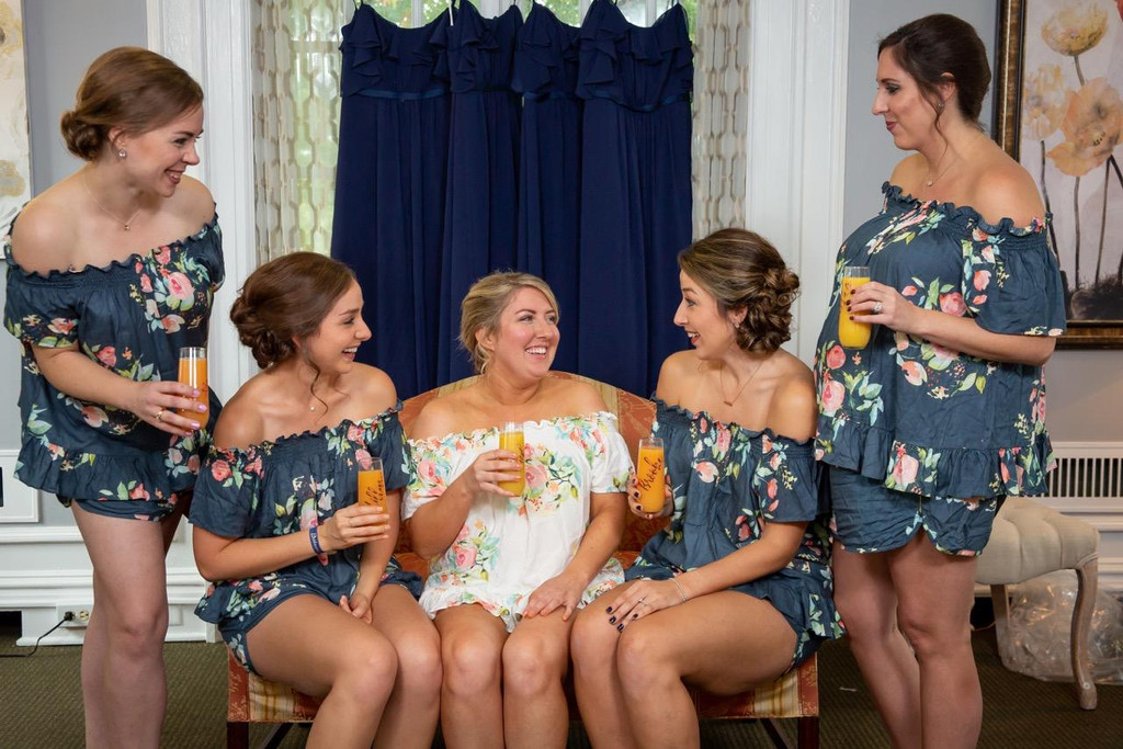 bridal party pj sets