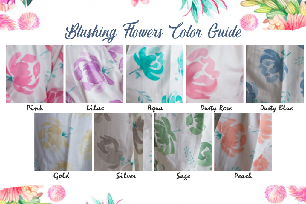 Plus Size Pajama Sets Blushing Flowers Pattern Set