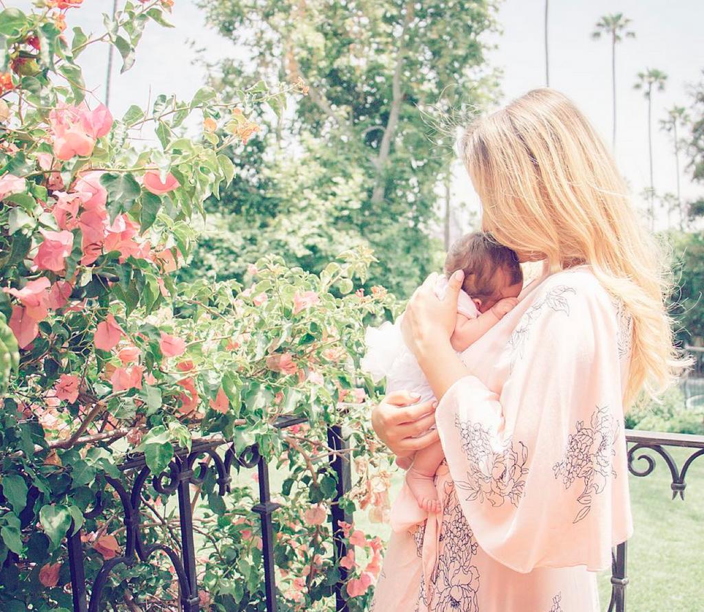 Blush Dress Robe - Floral Sketch Ankle length Maternity Robe