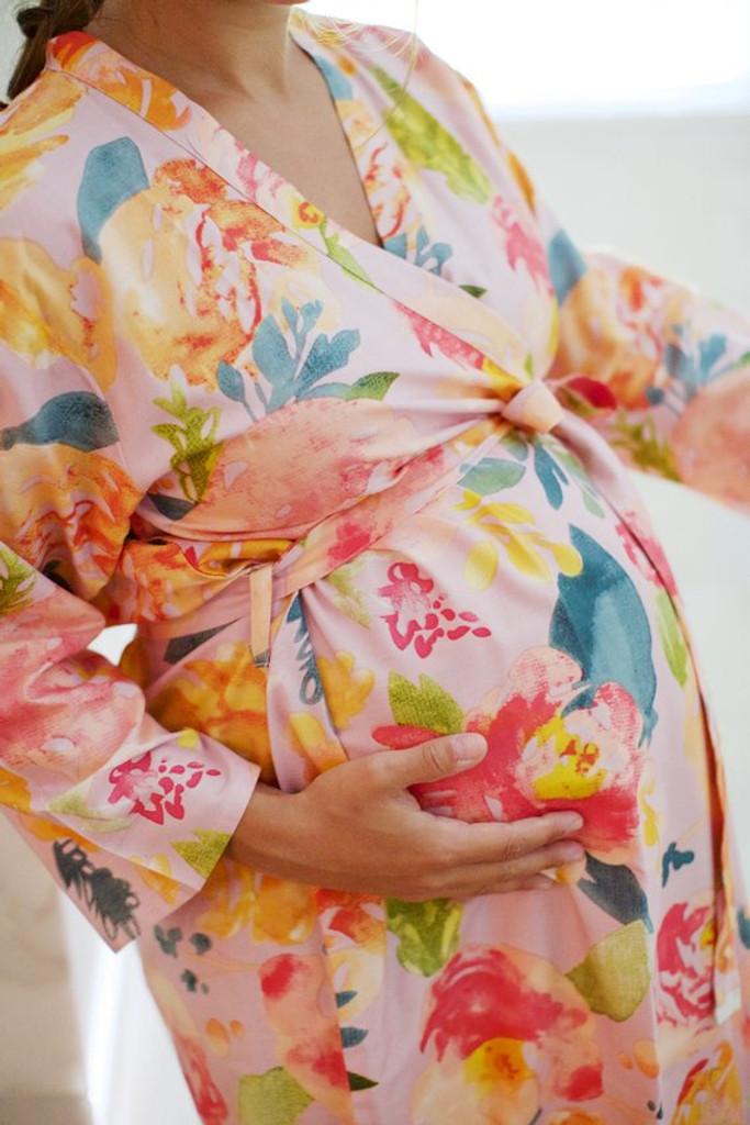 Pinky Lilac Her Petal Garden Maternity Robe