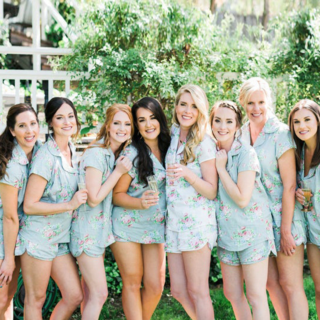 Set of 8 bridesmaids pjs