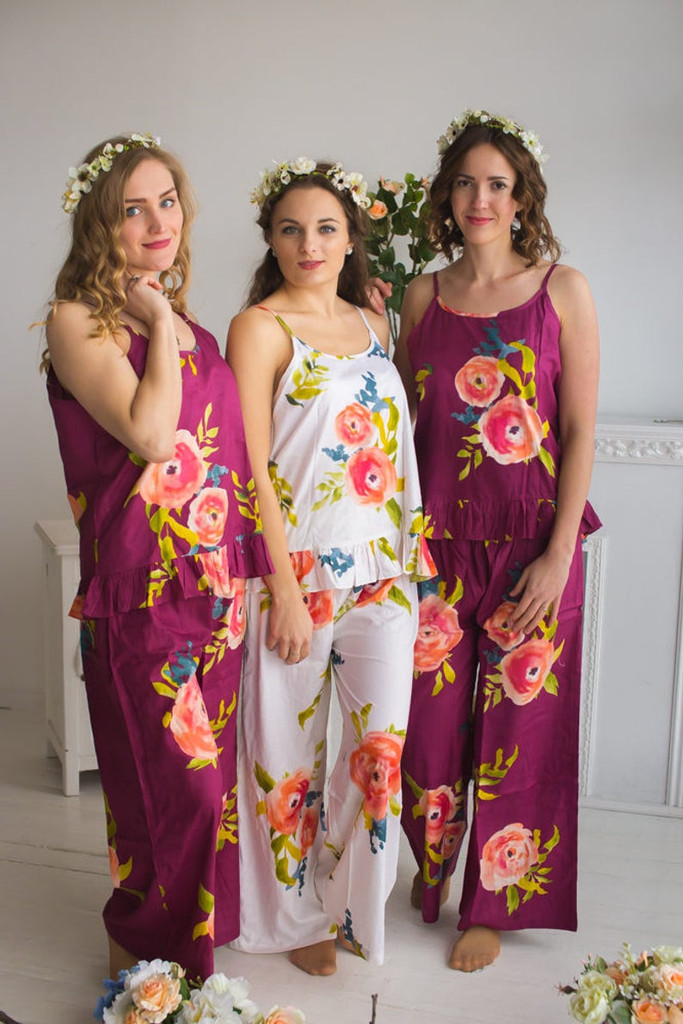 bridal party pj, bride pjs
