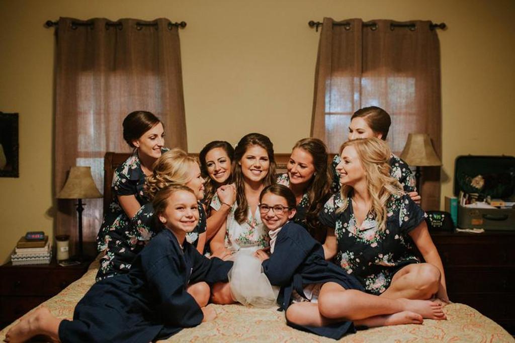 Set of 9 bridesmaids pjs, set of bridal pjs, bridal party pjs