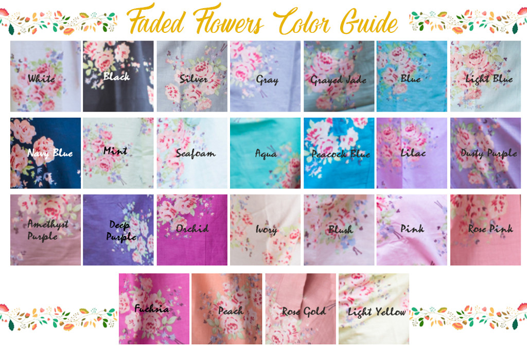 faded flower swatch
