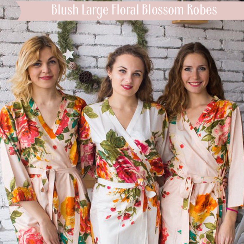 Blush Large Floral Blossom Robes