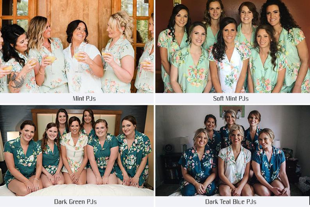 Soft Mint in Dreamy Angel Song Bridesmaids PJ Set