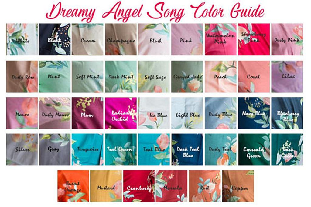 Dreamy Angel Swatch- Silkandmore pjs sets