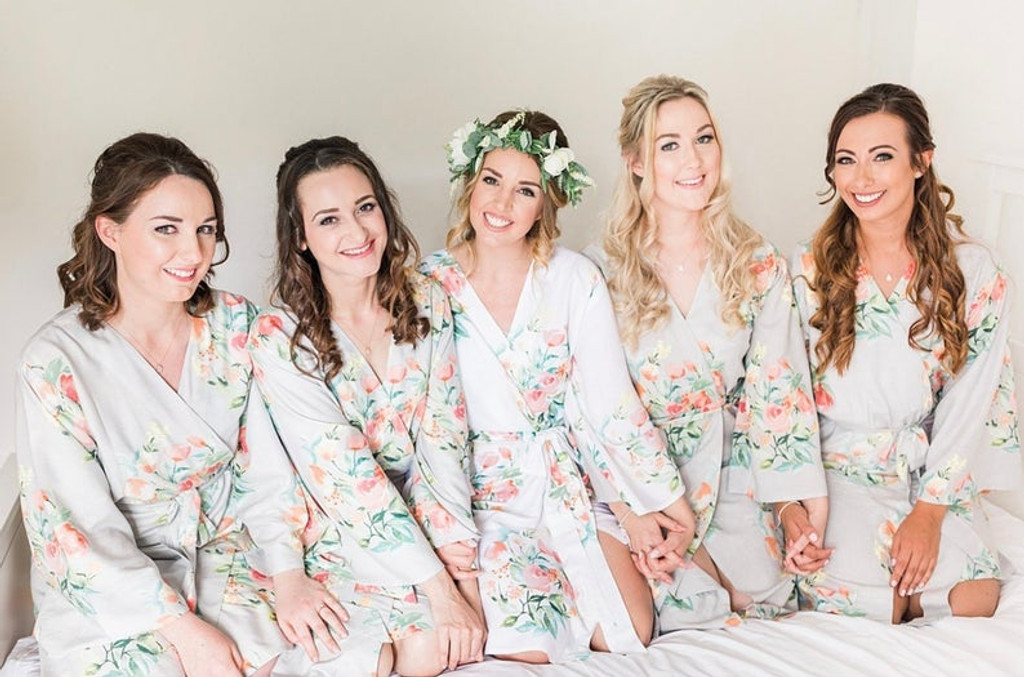 Silver Dreamy Angel Song  Set of Bridesmaids Robes