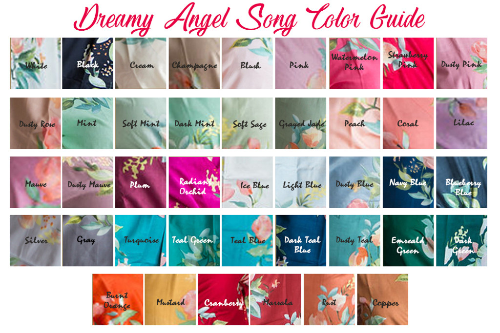 Grayed Jade in  Dreamy Angel Song Bridesmaids Robes Sets