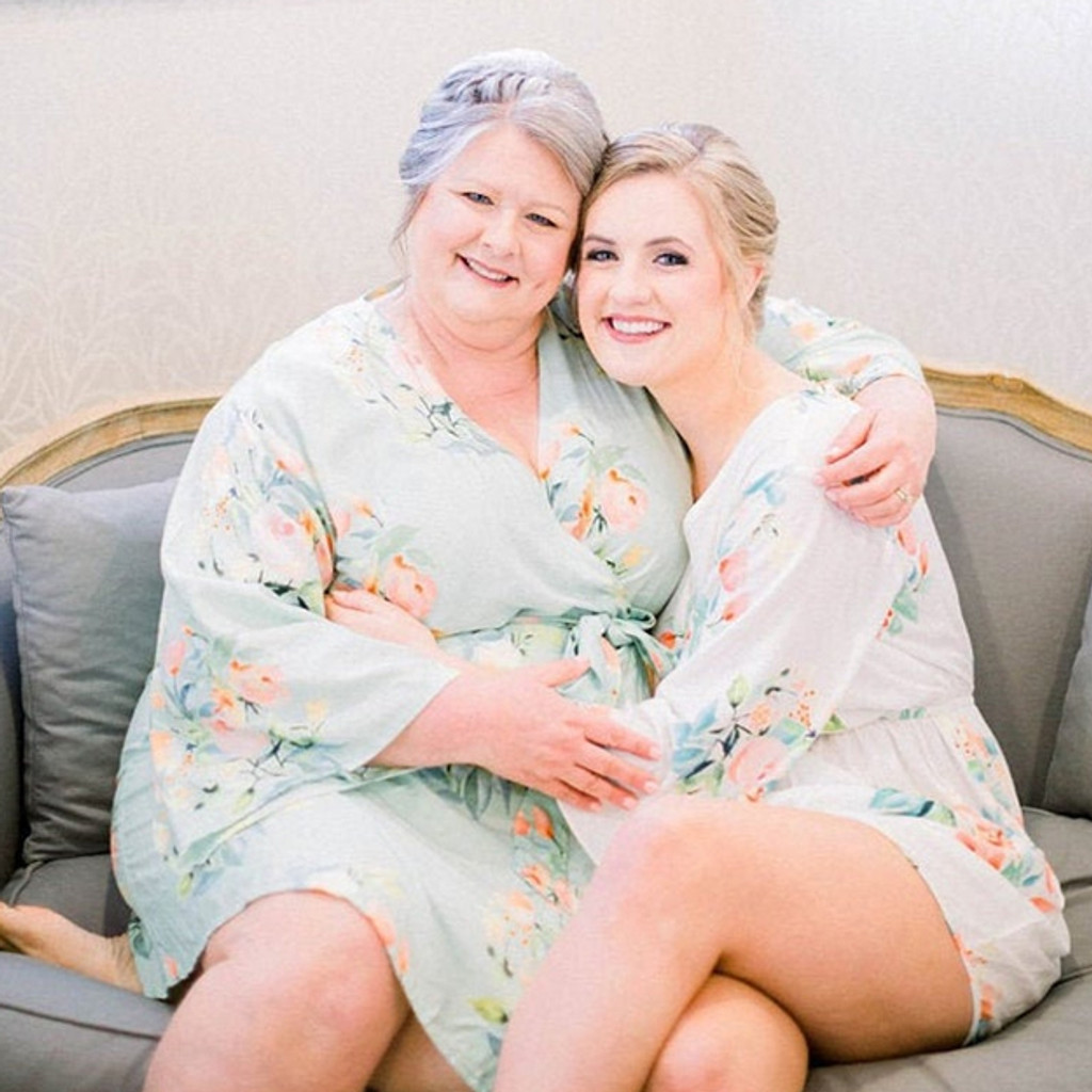 Soft Mint in Dreamy Angel Song  Set of Bridesmaids Robes