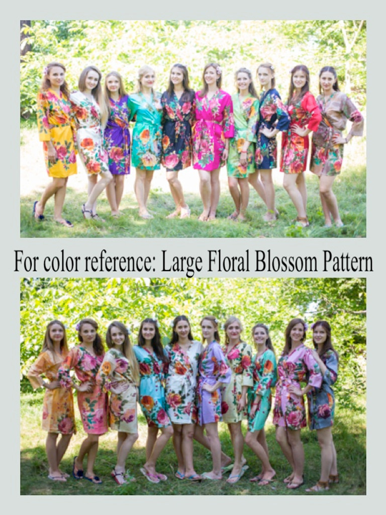 Large Floral Blossom Fabric Pattern Colors