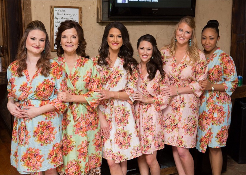 Mismatched Pastel Shabby Chic Floral Posy Robes