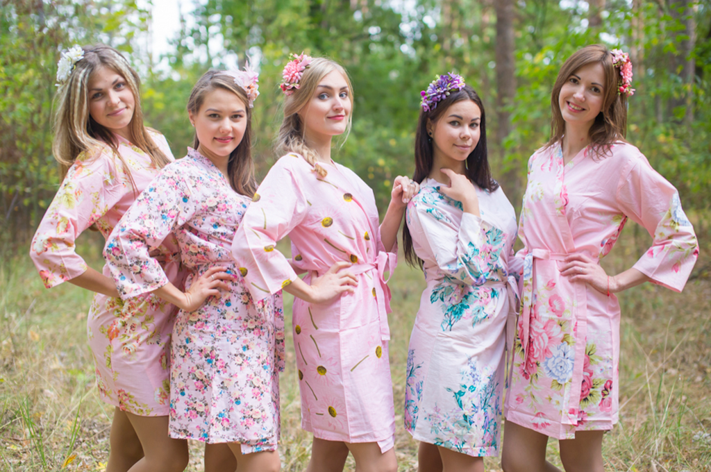 Assorted Pinks   SilkandMore Robes