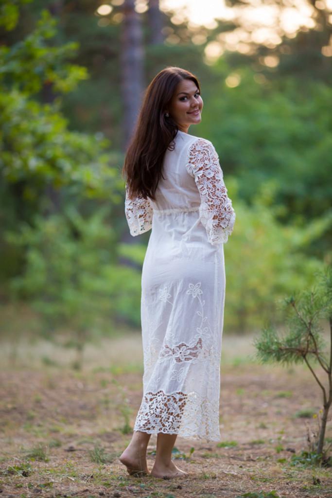 Oh Callie White Lace Bridal Boudoir Robe