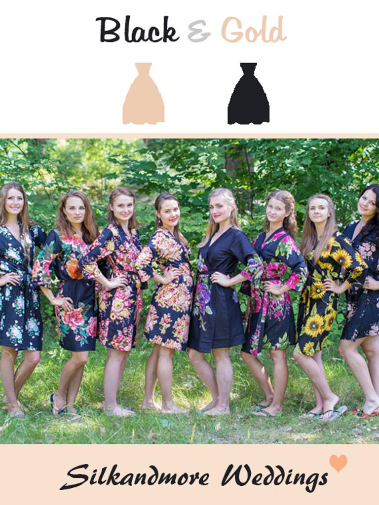 Assorted Blacks   SilkandMore Robes
