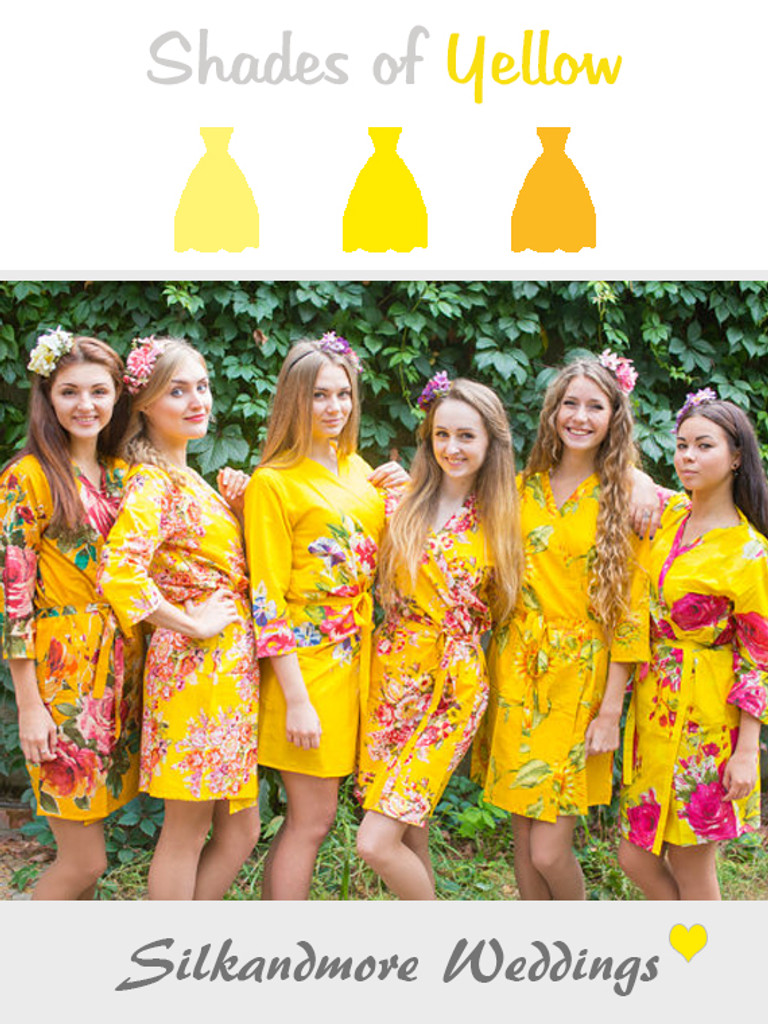 Assorted Bright Yellows | SilkandMore Robes