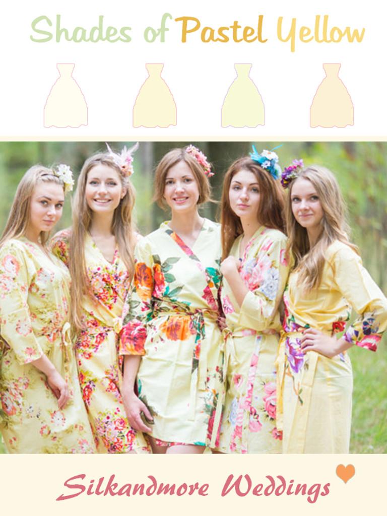 Assorted Light Yellows | SilkandMore Robes